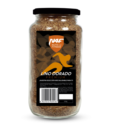 Semillas de Lino Dorado premium (620 g.) Nuts4Fitness