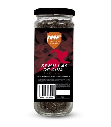 Semillas de chia premium (600g.) Nuts4Fitness